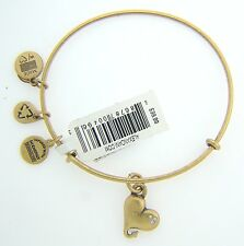 NEW ALEX AND ANI CUPID'S HEART CHARM BANGLE WITH GOLD FINISH 22