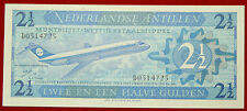 NETHERLANDS ANTILLES 2 1/2 GULDEN 8.9.1970 BANKNOTE AVIATION P 21a