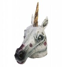 Latex Zombie Unicorn Mask Costume Accessory SALE! fnt