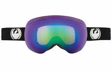 Dragon X Ski Goggle X Project Jet/Green Ionized +Extra lens yellow/blue ion  NEW