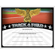 Track & Field Award Certificate, Pack of 15