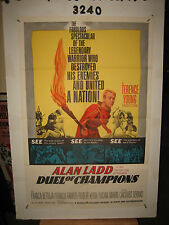 Duel of Champions Original 1sh Movie Poster '64 Alan Ladd destroyed his enemies