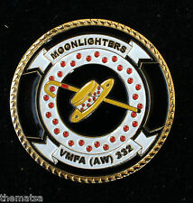 USMC MARINE CORPS MOONLIGHTERS VMFA AW 332 MILITARY  CHALLENGE COIN