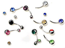 10pcs/Lot Crystal Rhinestone Belly Button Ring Navel Bar Body Piercing Jewelry