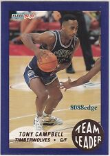 1992-93 FLEER TEAM LEADER: TONY CAMPBELL #16 TIMBERWOLVES/LAKERS NBA/CBA CHAMP