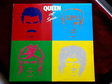 QUEEN~HOT SPACE~MEGA RARE PROMO~WITH LYRIS SHEET~NEAR MINT~~ ROCK  LP