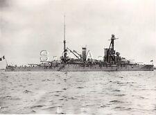 WWII US Large Press Photo- French Navy- Warship- Battleship Bretagne- 1940