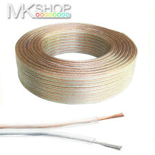 10M 2x 1.5MM² CABLE HIFI PA SPEAKER WIRE HOME STEREO LEAD 12V CAR LED VAN BOAT