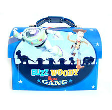 Disney Toy Story Buzz Lightyear Woody Metal Tin Workman Toolbox Lunch Box NEW