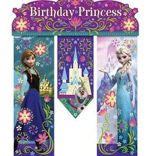 "Disney Frozen Birthday Princess Party 26"" Door Banner   Anna, Elsa and Olaf"
