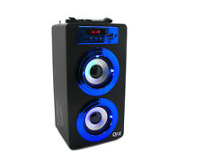 QFX BT140 Portable Rechargeable Bluetooth Speaker W/ USB/SD/Aux Boombox FM Radio