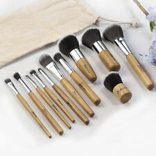 11 pcs Wood Handle Makeup Cosmetic Eyeshadow Foundation Concealer Brush Set UR