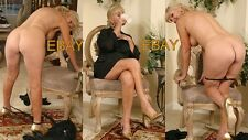 "Mature Woman - Busty Wife ,Livingroom, Legshow, leggy, Legs  (3) 4""x 6"" Photo's"