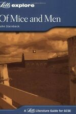 Letts Explore GCSE Text Guides - Of Mice and Men, Steinbeck, John Paperback Book