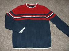 Tommy Hilfiger Boys Sweater Size 5 5T Winter Fall Kids Red Navy White Ribbed