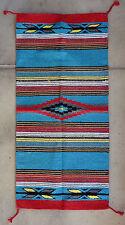 Feather Hawkeye Rug HA40-Turquoise Hand Woven Acrylic Southwest Southwestern Tab