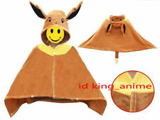 Pokemon EEVEE Soft Plush Cloak Cape Party Cosplay Costume Dress