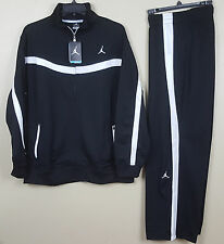 NIKE AIR JORDAN XI 11 WARM UP SUIT JACKET + PANTS BLACK WHITE RARE NWT (SIZE XL)