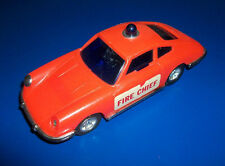 #### VINTAGE LUCKY TOYS PORSCHE 911 FIRE CHIEF CAR HONG KONG FRICTION WORKS 5""