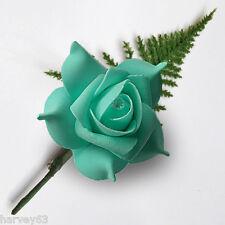 Color Foglia di Tè Verde Schiuma Rose FORI pulsante (FN) ~ bavero pin/pin Diamante ~ MADE to Order