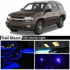10x Blue Interior LED Lights Package Kit for 2002-2009 Chevy Trailblazer + TOOL