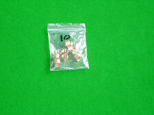 Bag of 10 x 9.5 mm Brass ferrules for snooker pool cues with stick-on tips