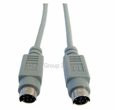 5m PS/2 Male / Male Data Cable 6 Pin Mini Din Shielded 5 Metre Extension Lead