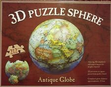 212  PIECE JIGSAW PUZZLE 3D SPHERE ANTIQUE GLOBE