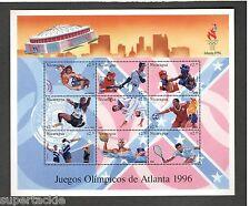 Juegos Olímpicos de Atlanta 1996 souvenir sheet Nicaragua MNH