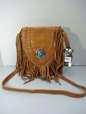 AMERICAN WEST TAN SEMINOLE FRINGED CROSS BODY FLAP BAG HANDBAG NWT $238RTL