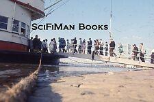 EKTACHROME 35mm Slide Large Ferry Boat People Boarding Bridges River 1968 L@@K!