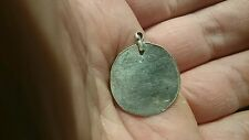 Very rare beautiful Viking wearable Silver mirror pendant unique artifact 1.83g