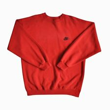 VINTAGE Red Nike CARTOON Felpa Maglione Grunge Skater Rave Indie Polo Sport