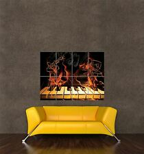 POSTER PRINT PHOTO COMPOSITION JAZZ THEME PIANO TRUMPET MUSIC FLAME SEB838