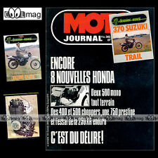 MOTO JOURNAL N°382 HONDA XR 250, XLS 500 ★★ SUZUKI SP 370 ★★ PARIS-DAKAR 1978