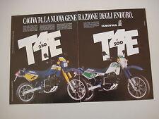 advertising Pubblicità 1987 MOTO CAGIVA T4 E 350 e 500 T4