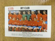1971/1972 Daily Mirror: Halifax Town - 'My Club' Colour Team Group Image With Pl