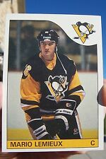 1985 Topps Hockey #9 Mario Lemieux Rookie Card - Pittsburgh Penguins