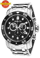 Invicta Men's 17082 Pro Diver Quartz Chronograph Black Dial Watch Swiss Parts