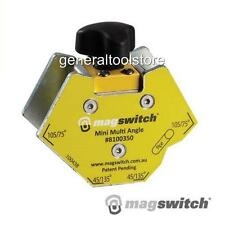 MINI MULTI ANGLE MAGSWITCH 45 60 75 & 90 DEGREES PIPES. ON/OFF WELDING MAGNET