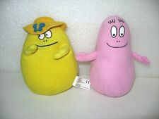 LOT DE 2 PELUCHES DOUDOU BARBAPAPA  15 CM PLUSH A23