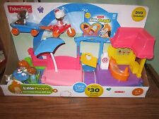 Fisher Price Little People Ice Cream Shop gift set DVD 5 Figures Trike wagon NEW