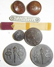 Texas A&M 1924 ? ROTC Corps Pettibone Buttons Insignia Medal Lot Aggie History