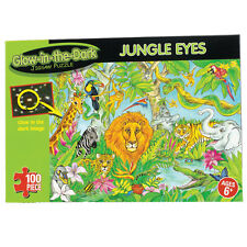 Glow In The Dark Jungle Eyes 100 Piece Jigsaw Puzzle