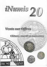 Catalogue VSO Inumis 20 du 12/03/2013 et prix réalisés