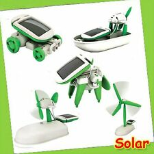 6 IN 1 Popular Boat Dog Educational Car DIY Fan Power Solar Toys Plane Robot