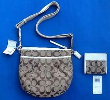 NEW Coach Purse & Wallet ~ Signature Pleated Swingpack Crossbody ~ W / Gift Box