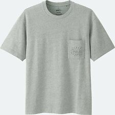 KEITH HARING x UNIQLO 'Embossed Baby' SPRZ NY Art Pocket T-Shirt M Gray **NWT**