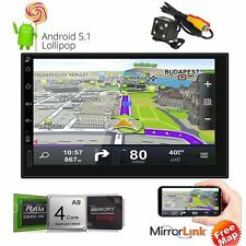 "Android 5.1 3G WIFI 7"" Double 2DIN Car Radio Stereo DVD Player GPS Nav Bluetooth"
