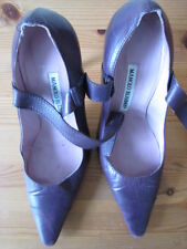 Manolo Blahnik Plum Color Designer Shoes S: 5 UK